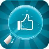Lucette sociale de medias de vecteur Image libre de droits