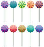 Lucettes colorées Photo stock