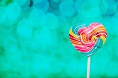 Lucettes colorées de coeur Photos libres de droits