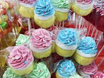 Lucettes colorées de petit pain Photo stock