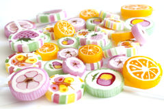 Lucettes colorées de sucrerie Images libres de droits