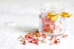 Lucettes colorées mélangées de sucrerie Photos libres de droits