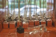 Lucettes de chocolat Photographie stock