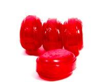 Lucettes de sucrerie d'isolement sur le blanc Image stock