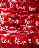 Lucettes en forme de coeur d'amour Image libre de droits