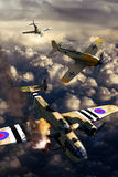 Lucha aérea de la Segunda Guerra Mundial libre illustration