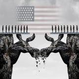 Lucha americana Democratic de la elección Imagenes de archivo
