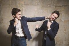 Lucha consigo mismo Fotografía de archivo libre de regalías