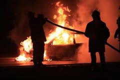 Lucha contra el fuego fotografía de archivo libre de regalías