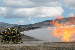 Lucha contra el fuego en New México Imágenes de archivo libres de regalías