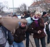 Lucha de almohadilla Imagenes de archivo