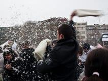 Lucha de almohadilla Brno Fotografía de archivo libre de regalías