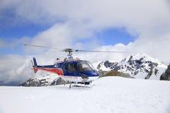 Lucha de Helicopeter en Fox y Franz Josef Glacier, Nueva Zelanda Fotografía de archivo