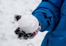 Lucha de la bola de la nieve Foto de archivo libre de regalías