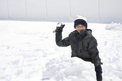 Lucha de la bola de nieve Foto de archivo libre de regalías