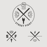 Lucha 1 de la calle stock de ilustración
