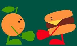Lucha de la comida stock de ilustración