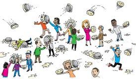 Lucha de la empanada libre illustration