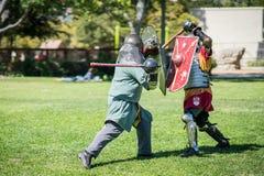 Lucha de la espada de los caballeros fotos de archivo libres de regalías