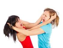 Lucha de la muchacha Fotografía de archivo