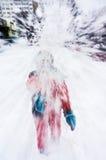 Lucha de la nieve Imagenes de archivo