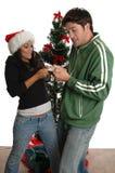 Lucha de la tarjeta de crédito Foto de archivo libre de regalías