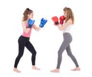 Lucha de las muchachas de Kickboxing Foto de archivo