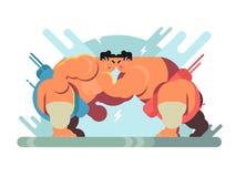 Lucha de los atletas del sumo libre illustration