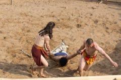 Lucha de los gladiadores Fotos de archivo