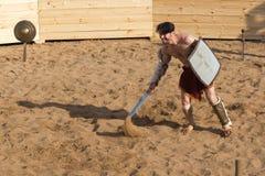 Lucha de los gladiadores Imagenes de archivo