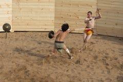 Lucha de los gladiadores Foto de archivo libre de regalías