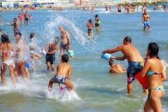 Lucha del agua Fotografía de archivo libre de regalías