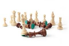 Lucha del ajedrez Fotografía de archivo libre de regalías