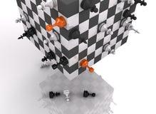 lucha del ajedrez 3d stock de ilustración