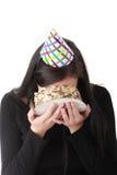 Lucha del alimento - retrato divertido Imagen de archivo libre de regalías