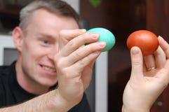 Lucha del huevo de Pascua Imagenes de archivo