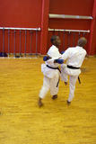 Lucha del karate Fotos de archivo