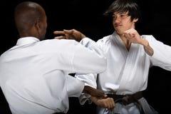Lucha del karate imagen de archivo libre de regalías