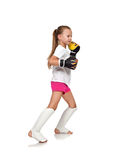 Lucha del niño de la niña Imagen de archivo libre de regalías