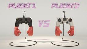 Lucha del regulador: jugador 1 contra el jugador 2 ilustración del vector