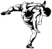 Lucha grecorromana Imagen de archivo libre de regalías