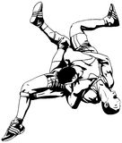 Lucha grecorromana Foto de archivo libre de regalías