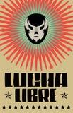 Lucha Libre -搏斗的西班牙文本 免版税图库摄影