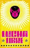 Lucha Libre - atracando-se o texto espanhol ilustração royalty free