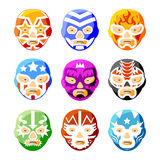 Lucha libre, luchador mexican wrestling masks Royalty Free Stock Photo