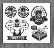 Lucha Libre. Mexican wrestler set. Lucha Libre Royalty Free Stock Photos