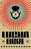 Lucha Libre - wrestling  spanish text. Mexican wrestler mask - poster - eps available Royalty Free Stock Photography