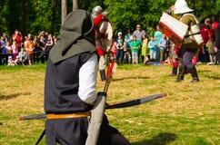 Lucha medieval Imagen de archivo libre de regalías
