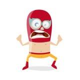 Luchador engraçado dos desenhos animados Imagem de Stock Royalty Free