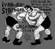 luchadores libre illustration